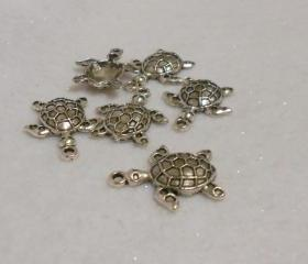 Sea Turtle Pendant Charms Lot of 6